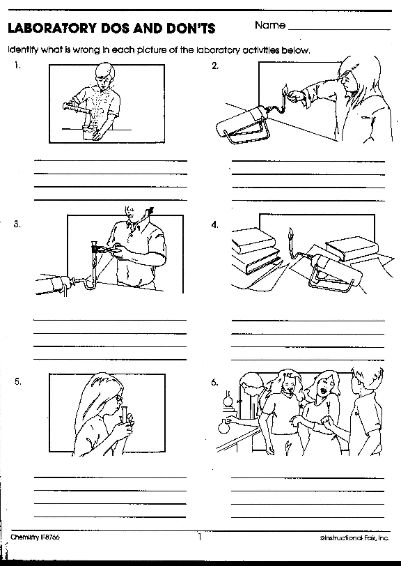Science Lab Safety Worksheet Worksheets For School - Studioxcess